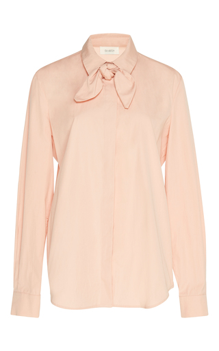 Medium isa arfen pink washed poplin neckerchief shirt