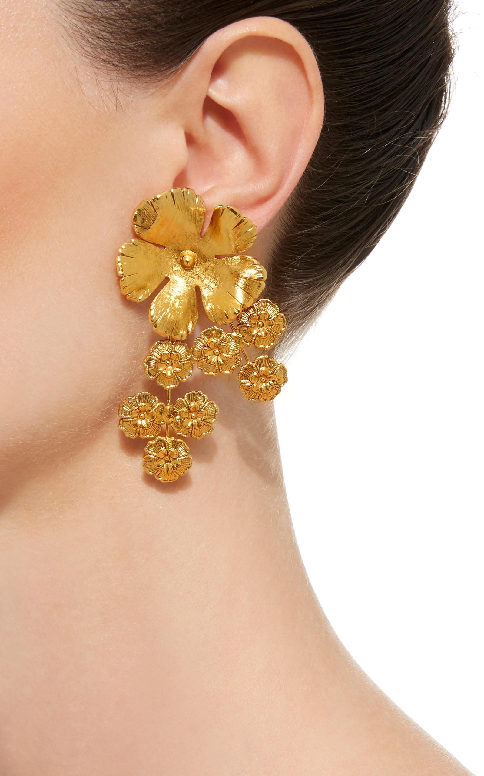 Jasmine Gold Plated Earrings By Jennifer Behr Moda Operandi