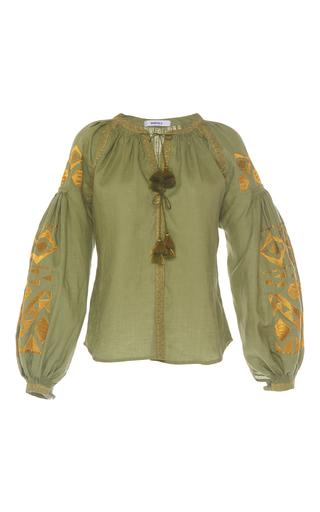 Medium march11 green olive kilim blouse