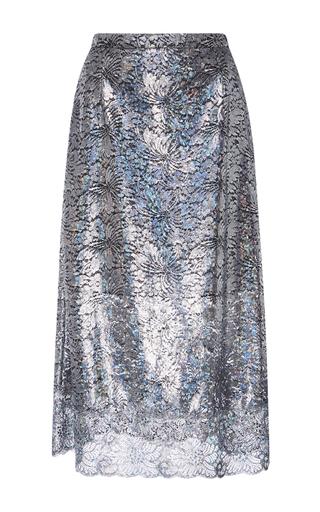 Medium christopher kane silver lace foil skirt