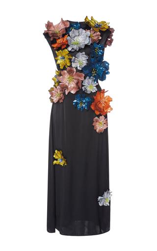 Medium christopher kane black embellished floral dress