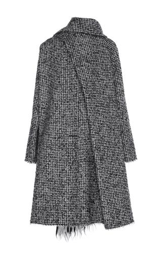 Tweed Swing Coat With Fringe Scarf by Paule Ka | Moda Operandi