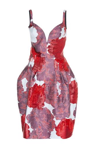 Medium paule ka multi floral jacquard embroidered bubble dress