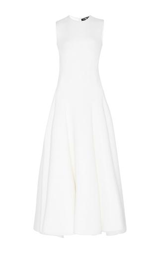 Medium paule ka white m o exclusive neoprene flared midi dress