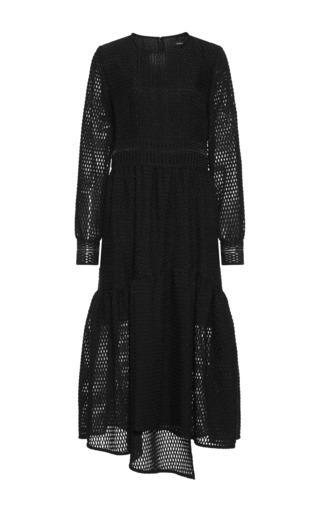 Medium goen j black long sleeve organza dress 2