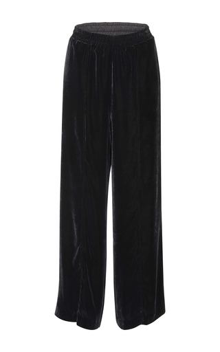Medium goen j black wide legged velvet trousers