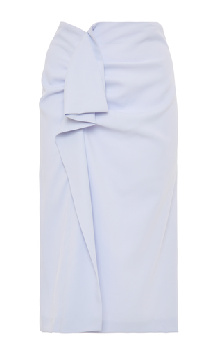 Medium carven blue ruffled pencil skirt