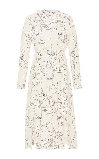 Medium carven white floral pleated dress