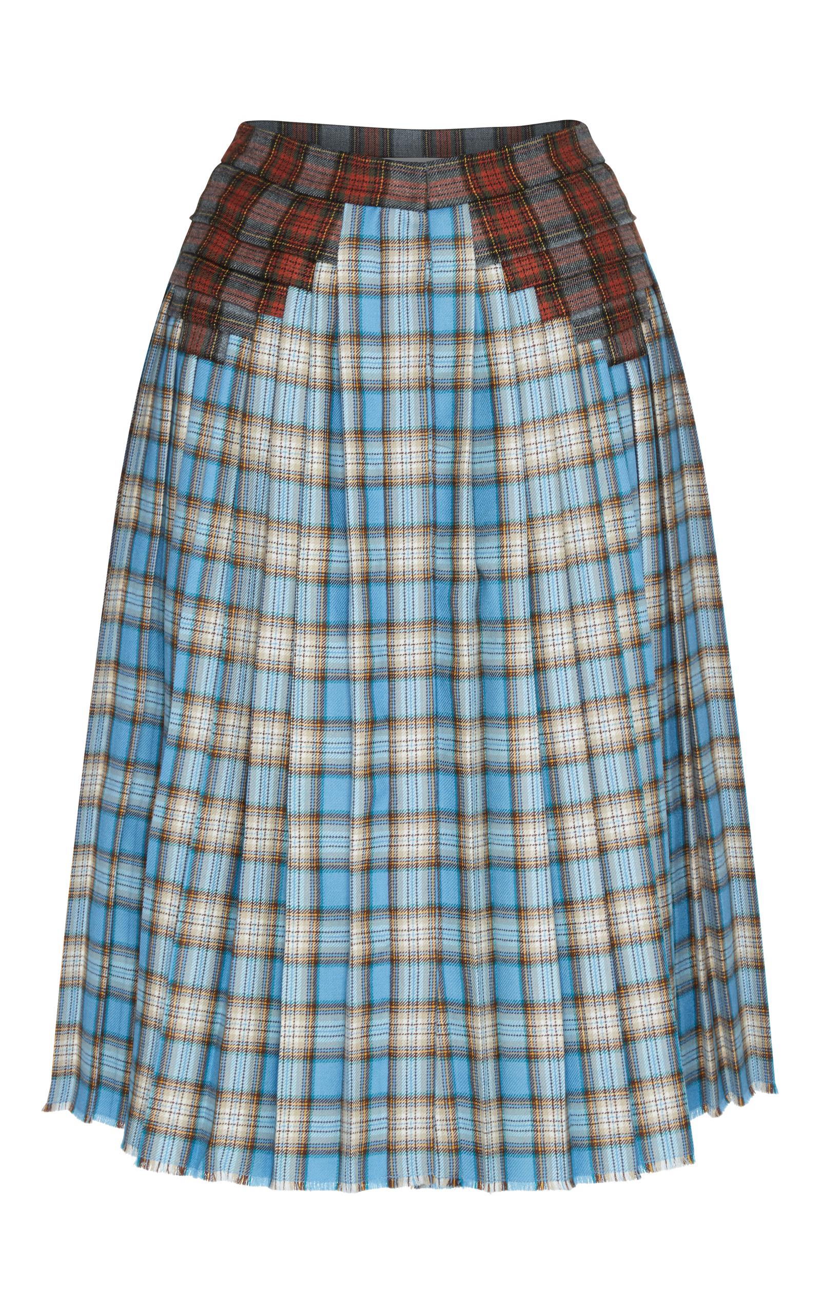Marco De Vincenzo plaid pleated skirt Store Cheap Price zprq0