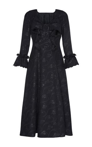 Medium marco de vincenzo black lingerie jabot dress