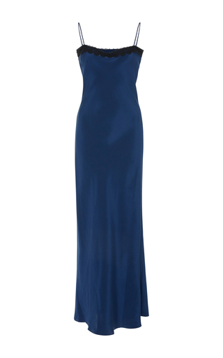 Medium racil blue mann silk dress