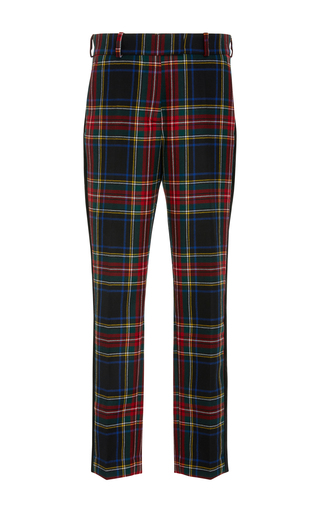 Medium racil plaid aries slim trouser