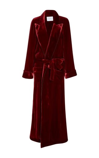 Medium racil red high windsor velvet coat 2