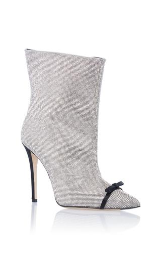 Medium marco de vincenzo silver crystal high heel bootie