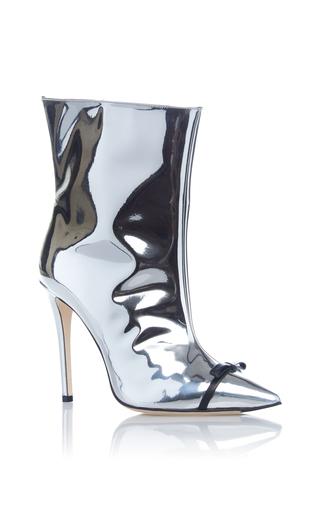 Medium marco de vincenzo silver silver high heel bootie