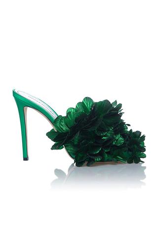 Medium marco de vincenzo green petals mule