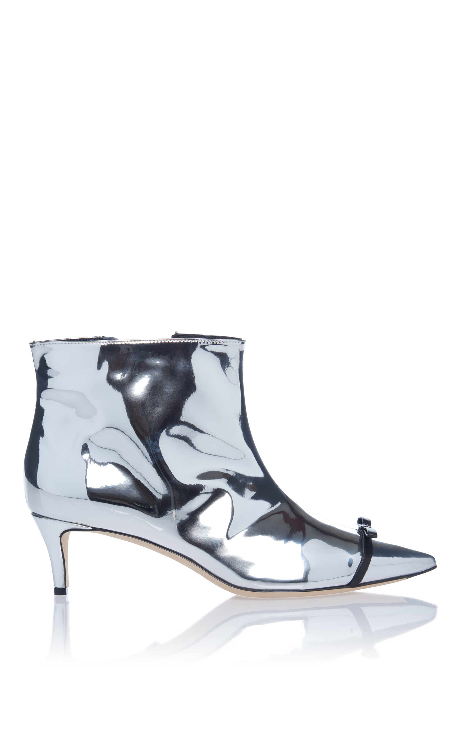 c245a205b8 Metallic Kitten Heel Bootie by Marco de Vincenzo | Moda Operandi