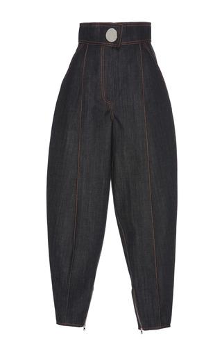 Medium wanda nylon blue high waist denim pants
