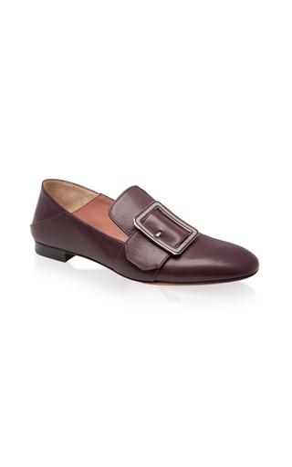 Medium bally burgundy janelle buckle slipper