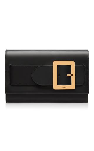 Medium bally black belle clutch