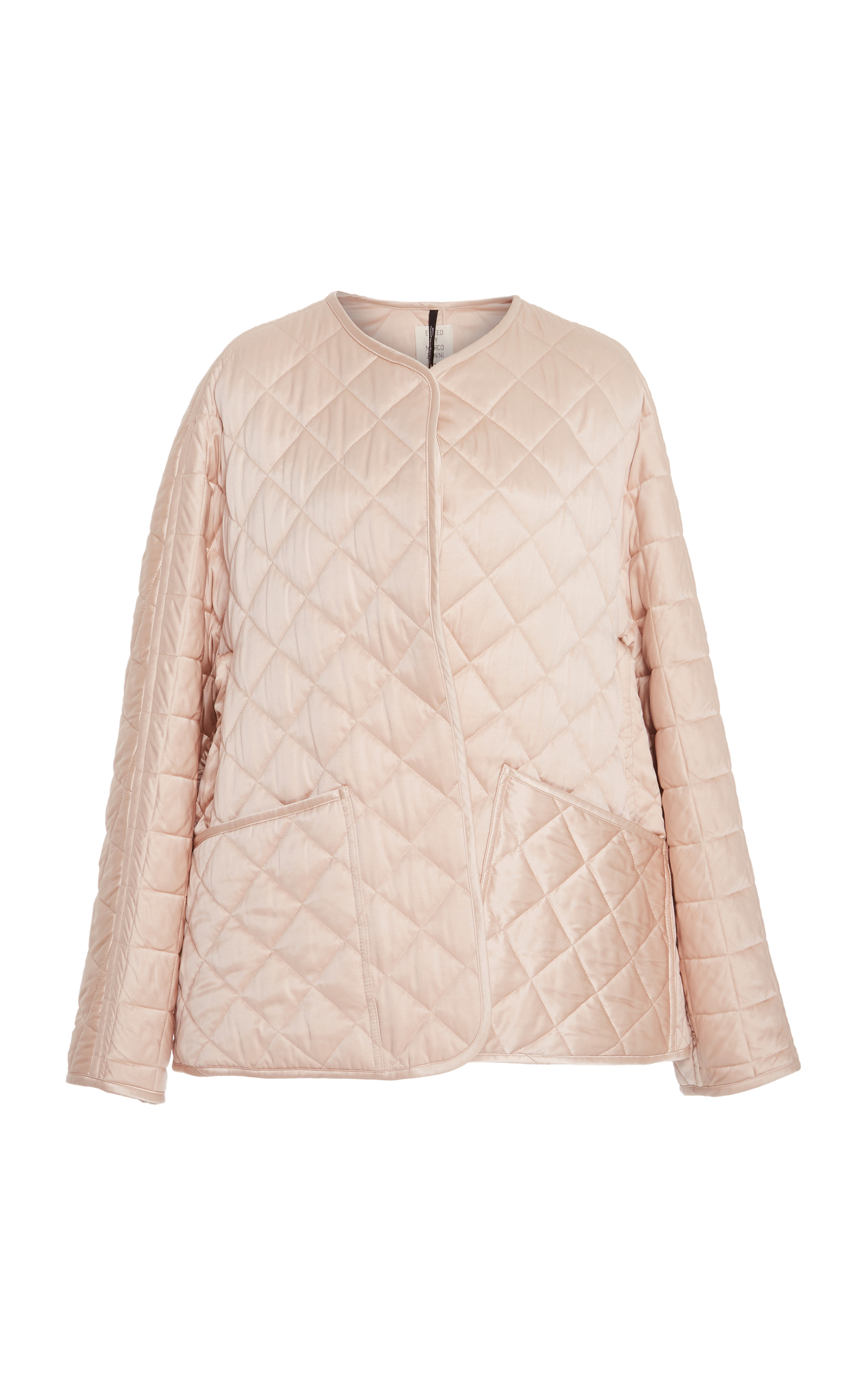 SANTONI EDITED BY MARCO ZANINI Silk And Down Quilted Jacket in Pink