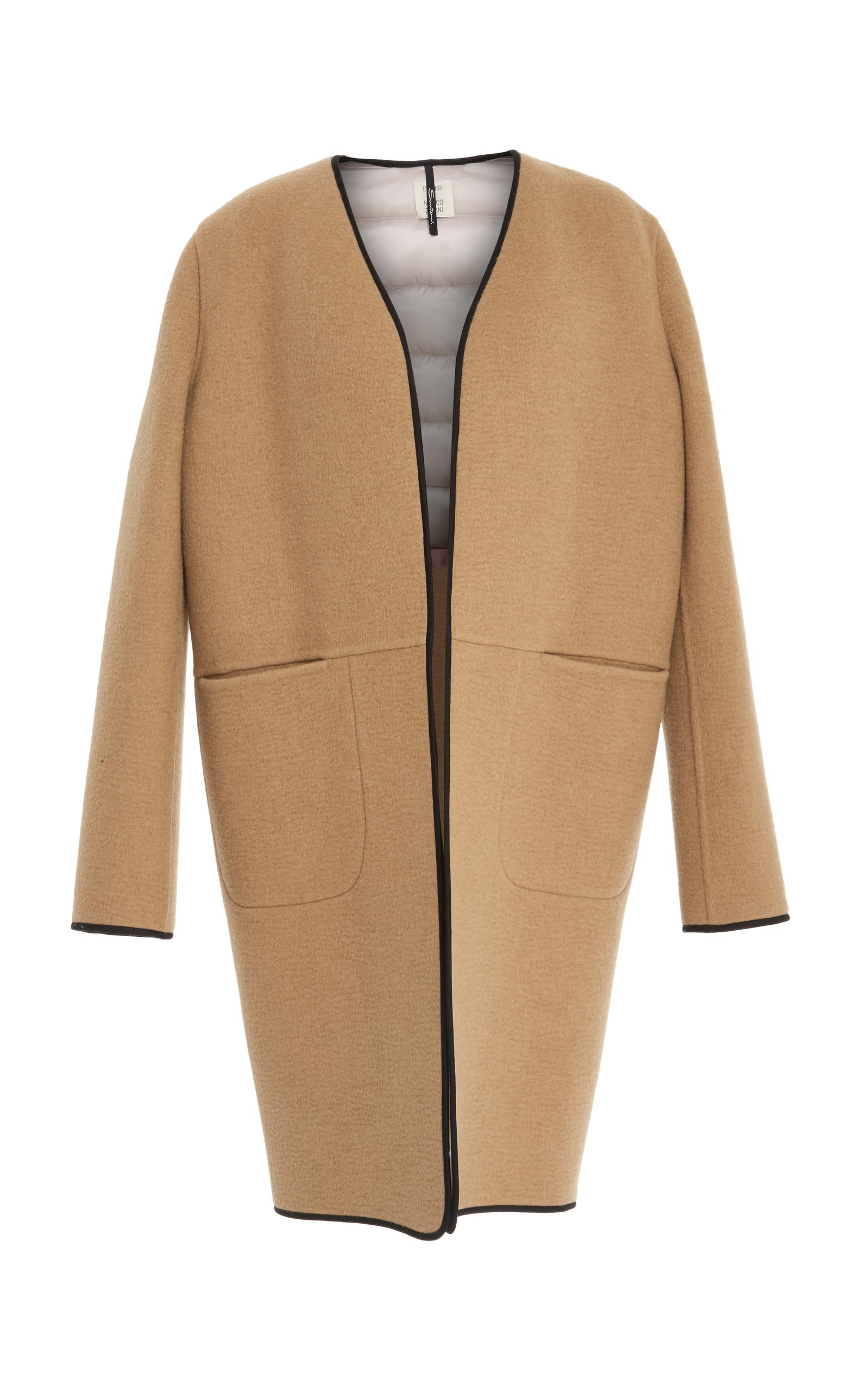 SANTONI EDITED BY MARCO ZANINI Wool Coat in Brown