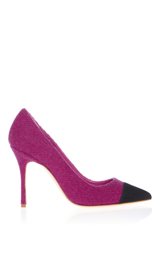 Medium manolo blahnik pink bipunta suede pump
