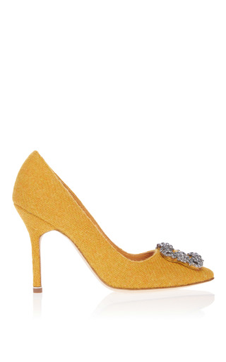 Medium manolo blahnik yellow hangisi pump