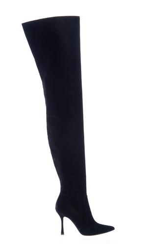 Medium manolo blahnik black temabo over the knee boot
