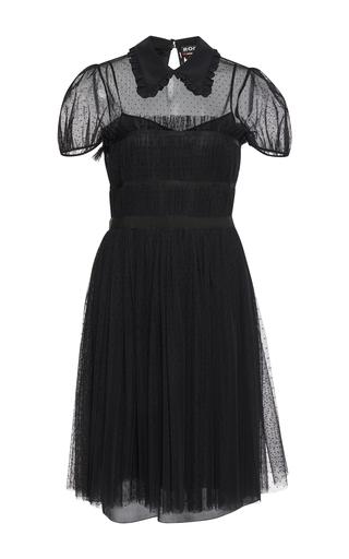Medium rochas black collared point esprit dress