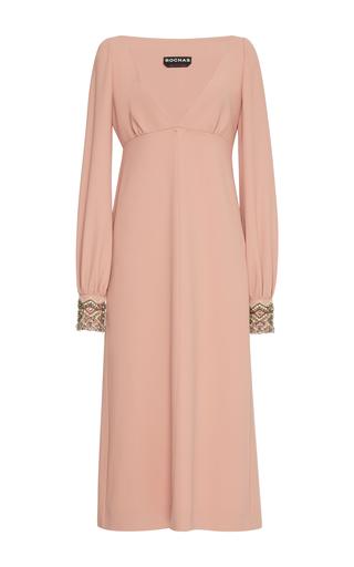 Medium rochas pink v neck dress with embellished dress