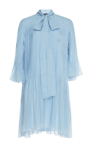 Medium rochas blue pleated mini dress