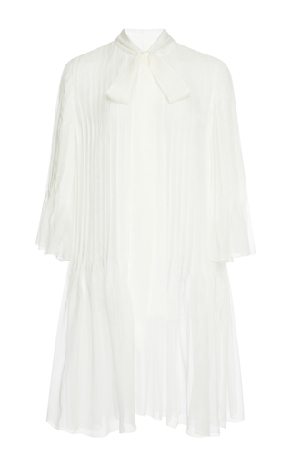 Medium rochas white pleated mini dress 2