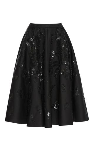 Medium rochas black embellished skater skirt