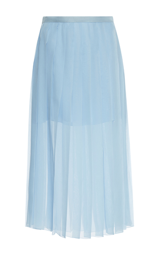 Medium rochas blue pleated midi skirt