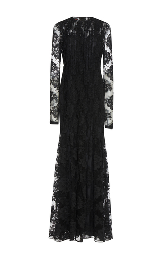 Medium rochas black chantilly lace gown
