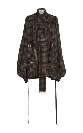 Medium loewe brown check coat dress