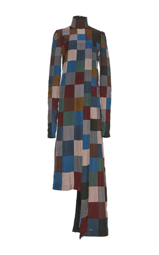 Medium loewe multi leather patch dress