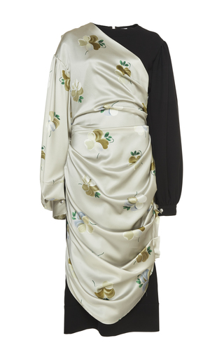 Medium loewe neutral draped flower dress