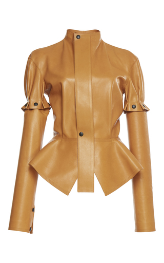 Medium loewe neutral tie leather jacket