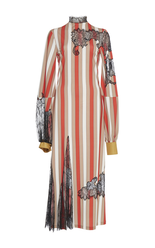 Medium loewe stripe stripe lace dress