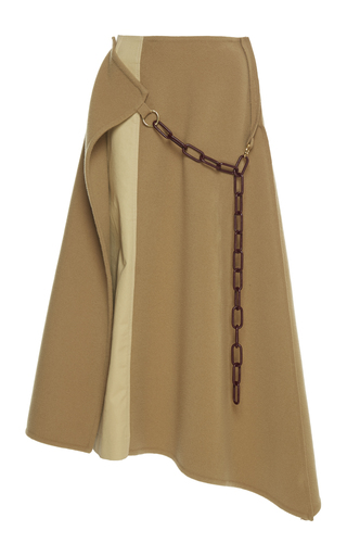 Medium loewe neutral double face chain skirt