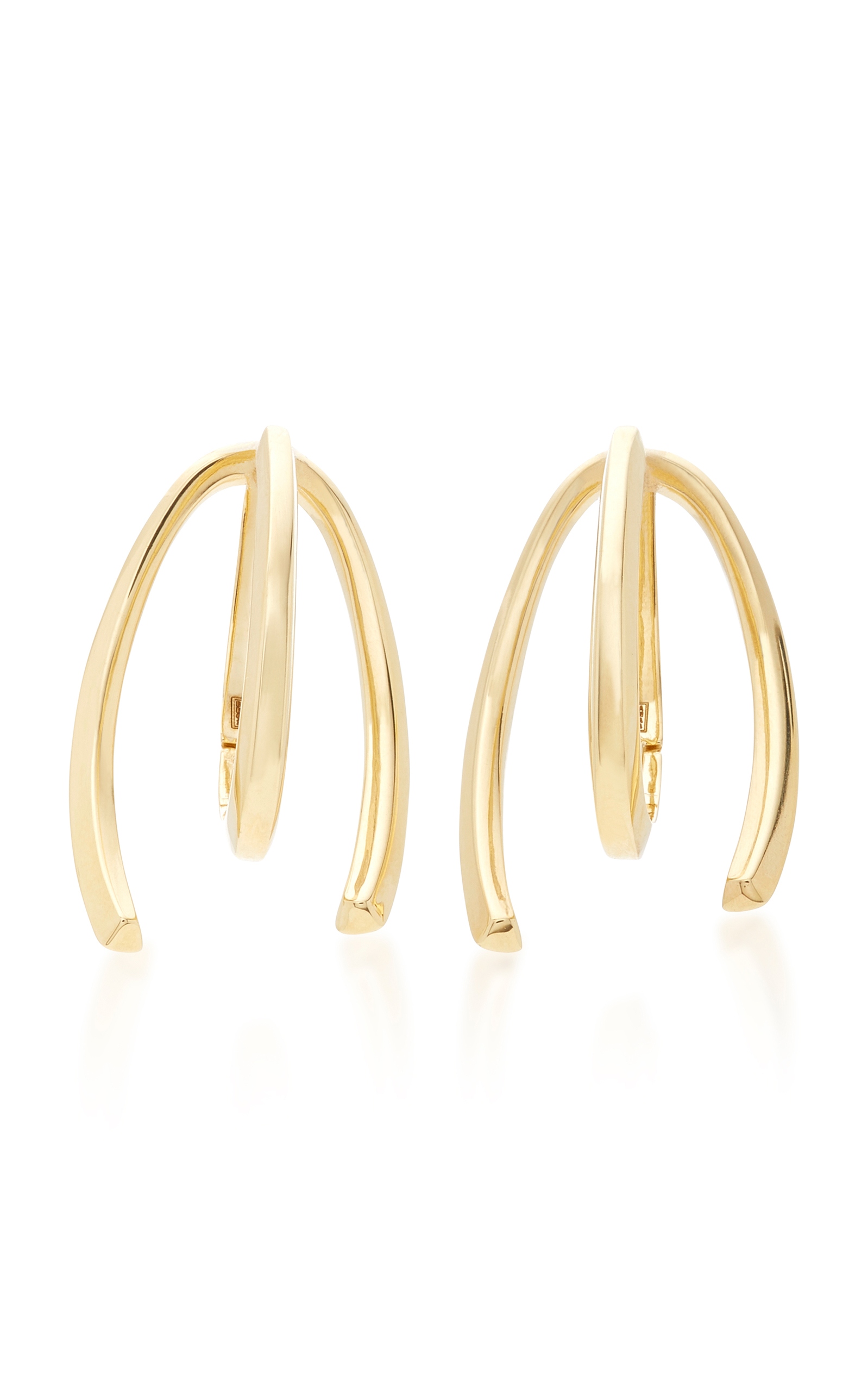 BEA BONGIASCA HONEYSUCKLE 9K GOLD LONG EARRINGS