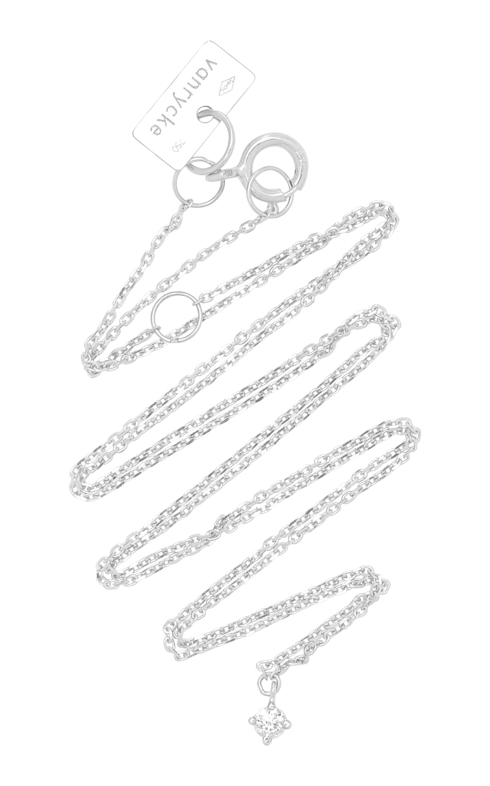 VANRYCKE M'O Exclusive 18K White Gold Diamond Choker in Silver