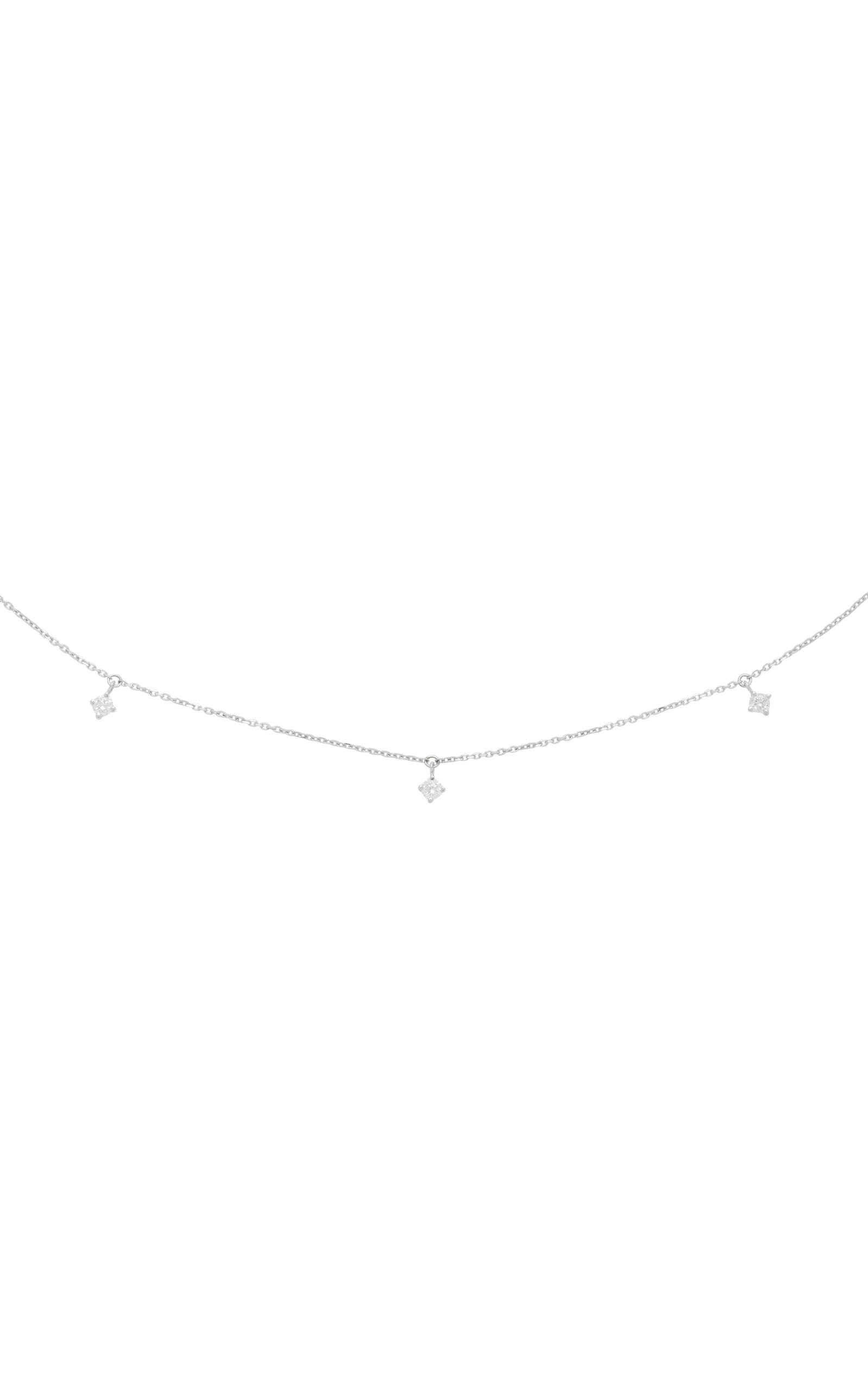 MO Exclusive One 18K White Gold Diamond Necklace Vanrycke VmKEhlxAw