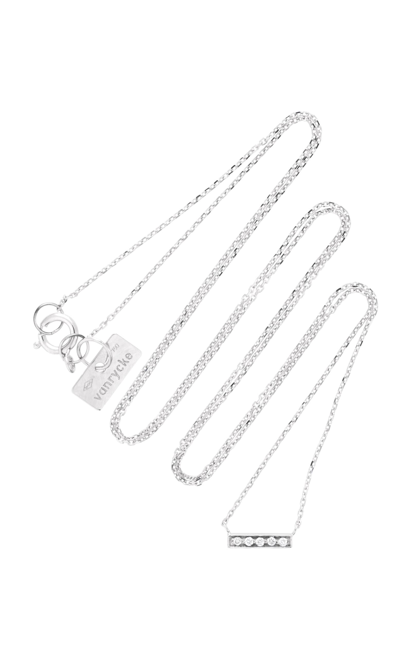 VANRYCKE Medellin 18K White Gold Diamond Necklace in Silver
