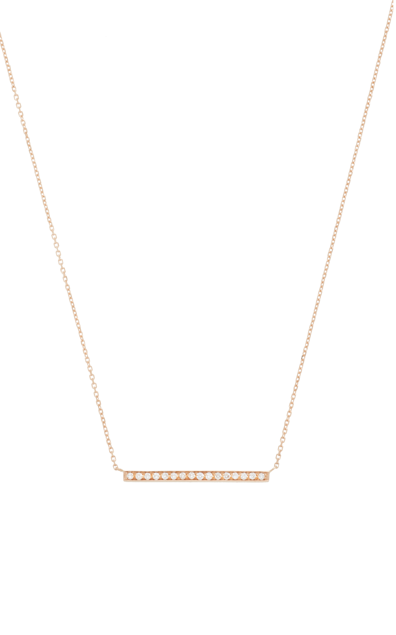 Medellin 18K Rose Gold Diamond Necklace Vanrycke BVG5V