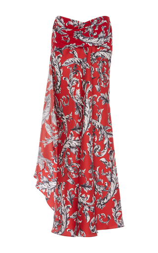 Medium j w anderson print filigree print asymmetric maxi skirt