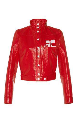 Medium courreges red iconic patent jacket