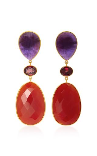 Medium bahina multi 18k gold multi stone earrings 5